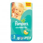 PAMPERS ACTIVE BABY JNR GIANT PK 64EA Size 5